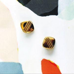VTG Mod Gold-Tone Earrings
